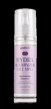Hydra face mist rose water bottle white background
